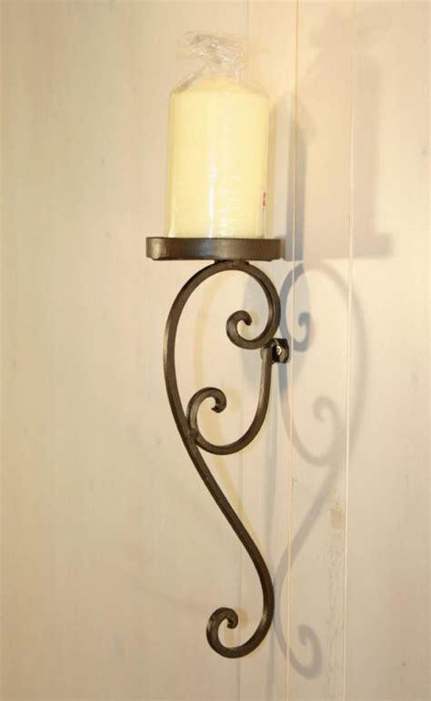 kerzenhalter wand antik wandkerzenhalter mascali in eisen kerzenhalter braun antik