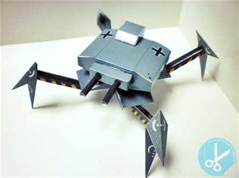 angreifer crawler tank papercraft paperkraft net free