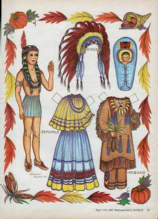 printable indian paper dolls inkspired musings more thanksgiving with native americans