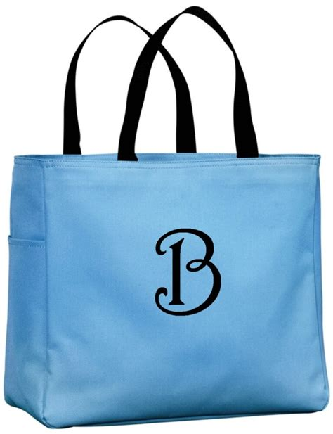 personalized tote bags monogram gift ideas  teachers