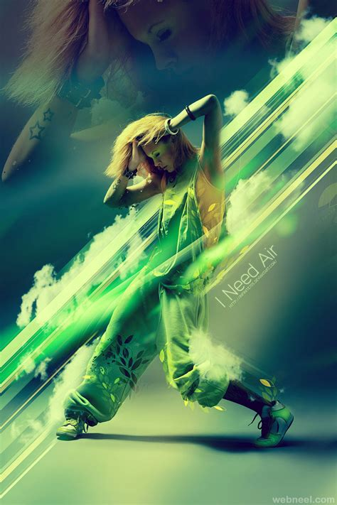 tutorial photoshop dance photo effect light poster dance 11 full image