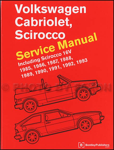service manual automotive repair manual 1986 volkswagen cabriolet instrument cluster service 1985 1993 vw cabriolet and scirocco bentley repair shop manual