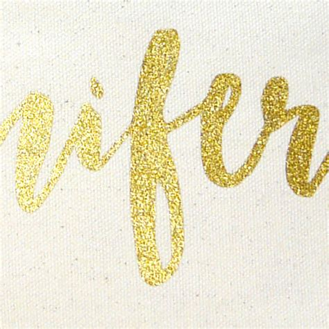 gold pattern font personalised make up bag with gold glitter text by the