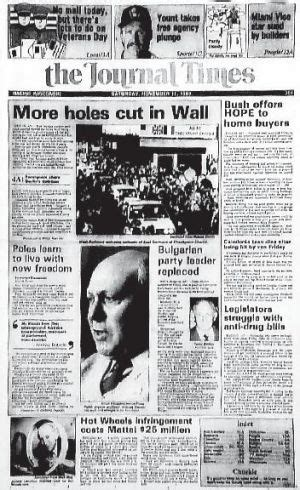 berlin wall newspaper from the archives 1989 berlin wall falls