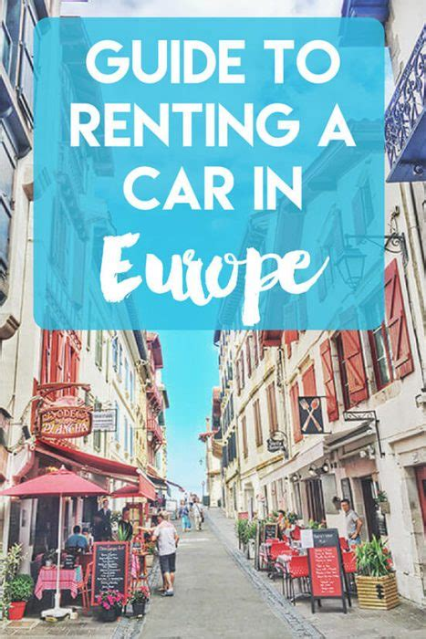 guide  renting  car  europe benefits tips