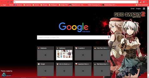 themes chrome anime god eater 2 google chrome skin windows 7 anime themes