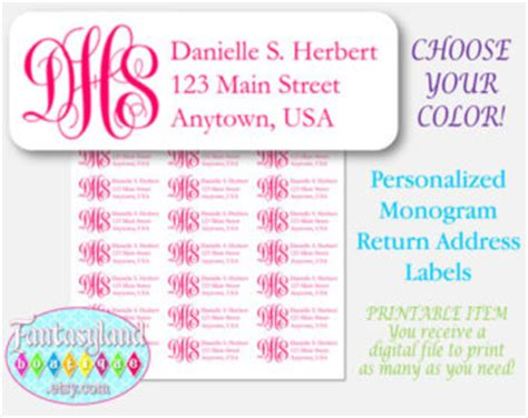 avery printable return address labels avery 5160 etsy