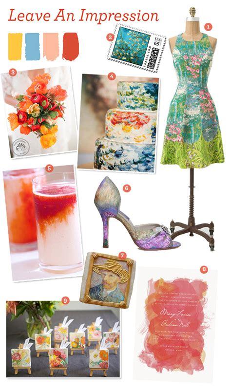 design inspiration wedding design inspiration impressionism meets wedding