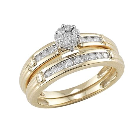 10kt yellow gold 1 2cttw bridal set jewelry