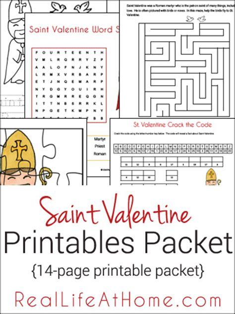saint valentine printables packet