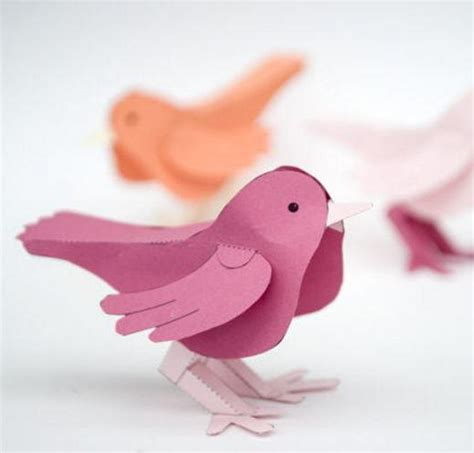 3d Craft Paper - 3d paper bird free printable allfreepapercrafts