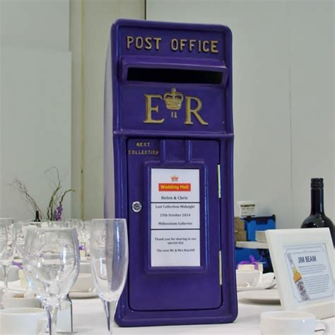 Wedding Post Box Yellow by Purple Wedding Postbox To Hire In Derbyshire