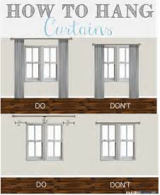 how to properly hang curtains 25 best curtain ideas on pinterest window curtains