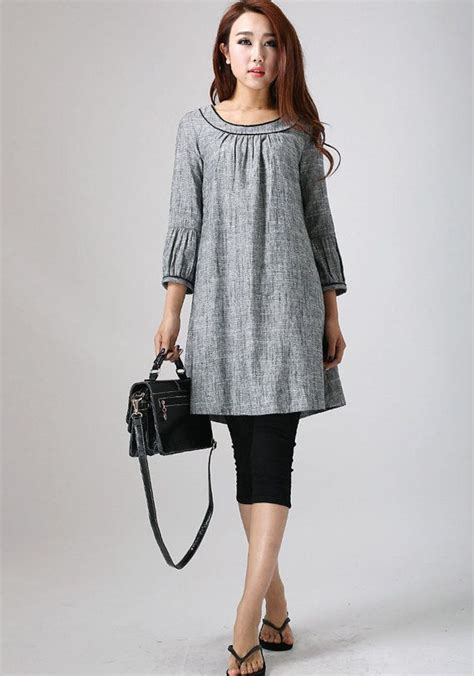 Work And Pray Tunic 1 linen tunic dress grey dress mini dress tunic top womens tops fall clothing shift dress