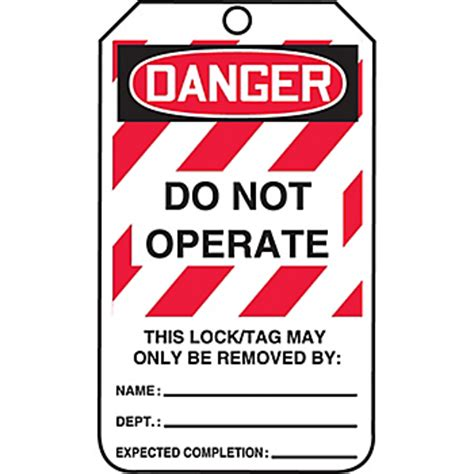 printable danger tags danger do not operate lockout tags small print lck291