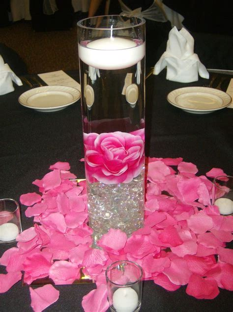 Weddind reception in hot pink and zebra   16 inch Cylinder