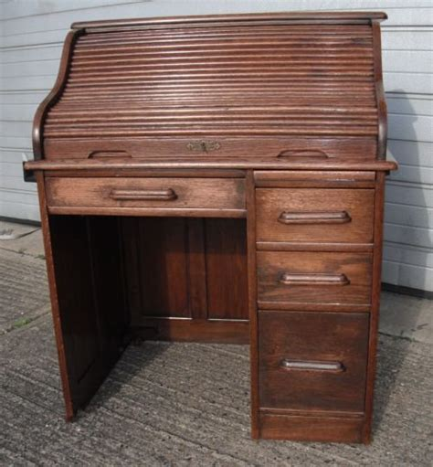 oak roll top desk 138482 sellingantiques co uk