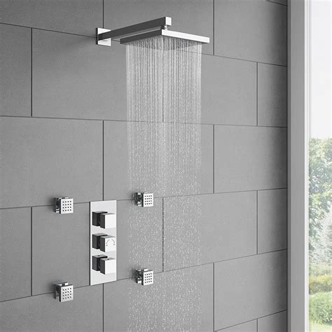Shower With Jets by Milan Square Concealed Shower Valve With Fixed