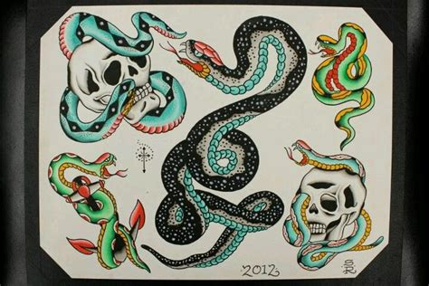 tattoo flash of snakes snake tattoo flash by steve rieck las vegas art by steve