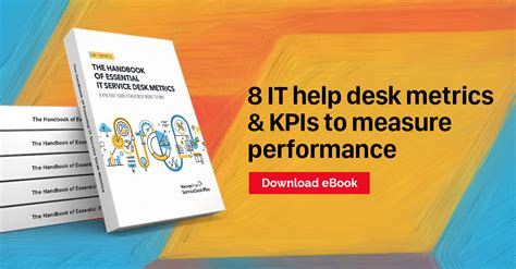 8 It Help Desk Metrics Kpis To Measure Performance
