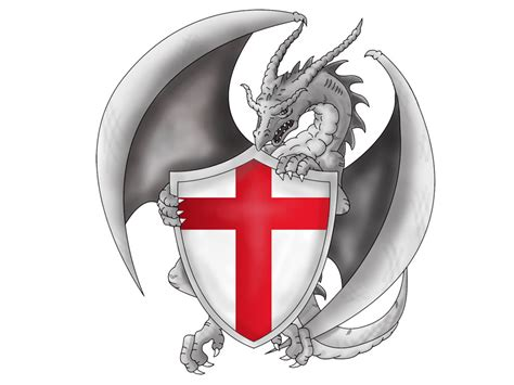 english dragon tattoos designs with flag lawas