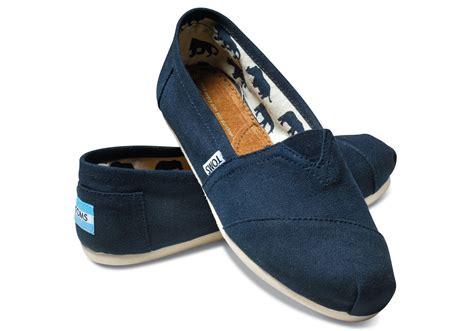 Sepatu Slip On Toms Tm09 toms s classic canvas slip on shoes ebay