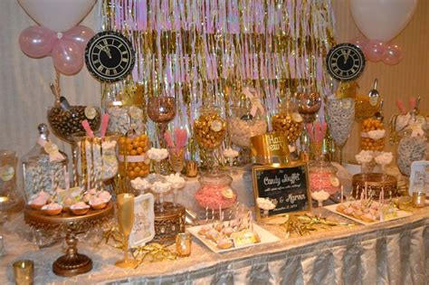 new year buffet new years pink and gold buffet bars