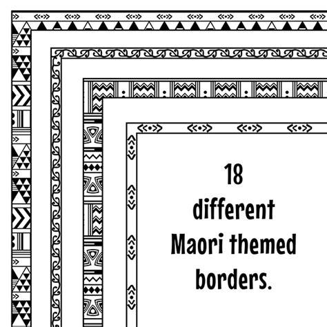 maori clipart maori inspired borders clip