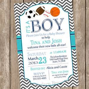 chevron all star it s a boy baby shower invitation