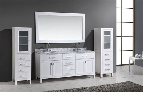 bathroom vanities with matching linen cabinets 72 quot london double vanity set in white with two