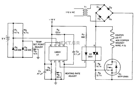 a thermistor motor temperature protection device operates by thermometer circuit page 2 meter counter circuits next gr