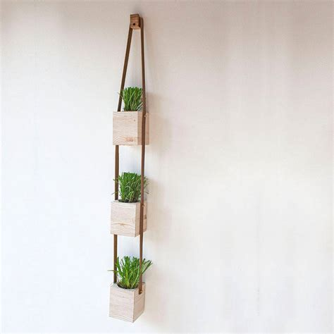 wooden hanging wall pot planters by factorytwentyone