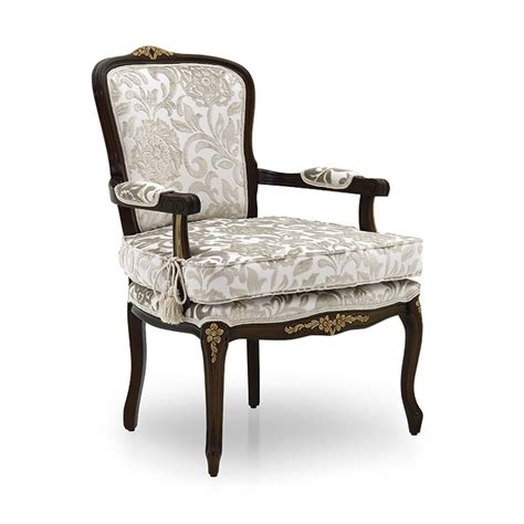 vclassic armchair classic style armchair made of wood luisa 328 sevensedie