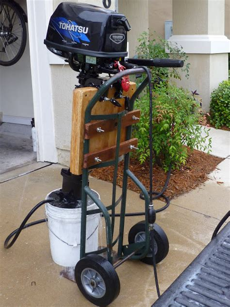 how to build an outboard motor stand puny projects make outboard stand from truck