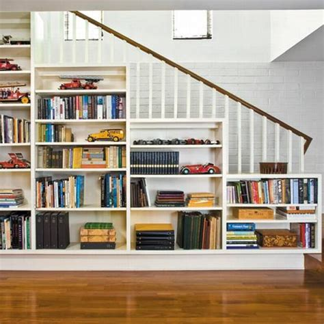 staircase bookshelves built in bookshelf furniture under stair i love built