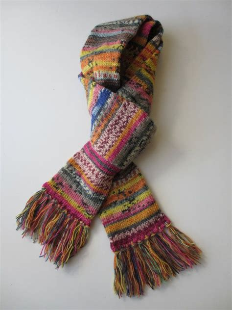 knit scarf pattern yarn over 39 best images about breien met garenrestjes on pinterest