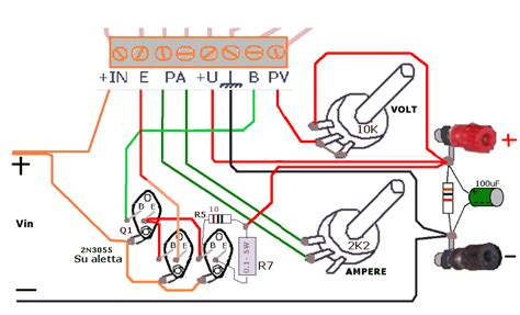 transistor 2n3055 in parallelo alimentatore a tensione variabile 0 30 volt con l200