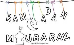 print ramadan mubarak islamic coloring pages kids