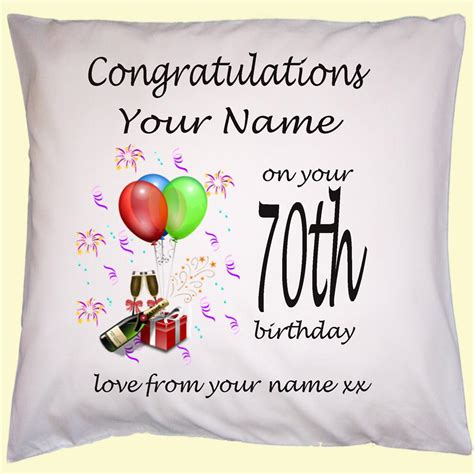 personalised 30th 40th 50th 60th birthday gift cushion