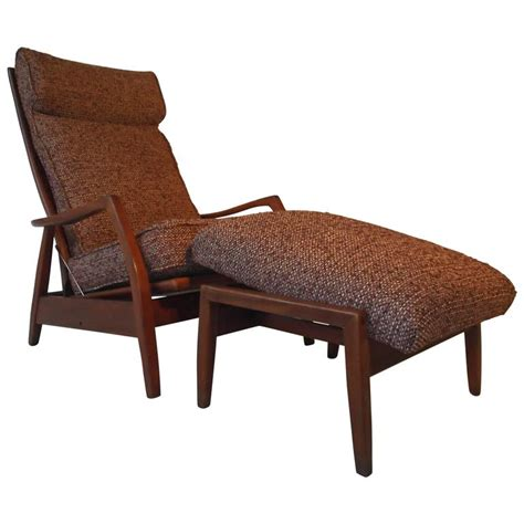 tilt back chair with ottoman milo baughman for james walnot recliner rocking chair with