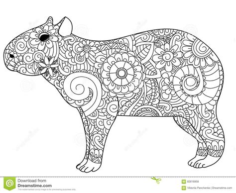 capybara coloring page www imgkid com the image kid