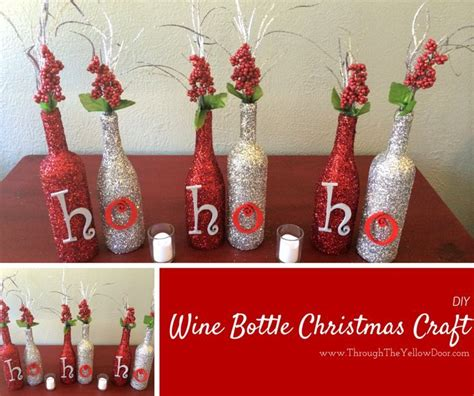 wine bottle christmas craft pictures   images