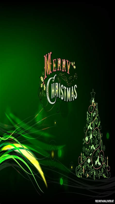 christmas ipod wallpapers green merry iphone 5 5s ipod wallpaper freechristmaswallpapers net