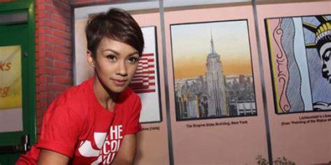 celebrity fitness kota semarang jawa tengah potong rambut pendek melanie putria bantah ikut tren