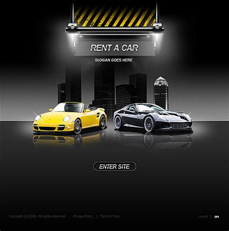 rent  car flash template  website templates