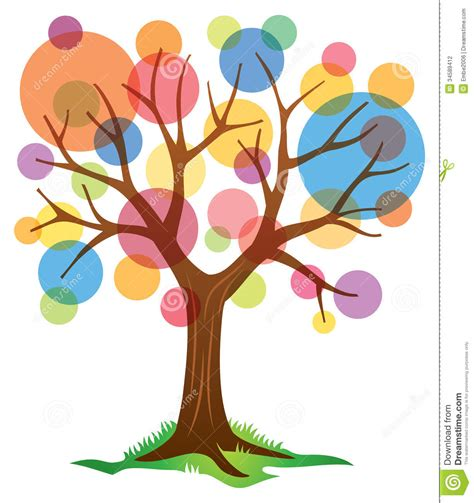 Abstract Tree Logo Stock Vector Illustration Of Gradient 34589412 Logo With Abstract Tree Vector Free