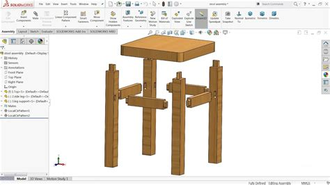solidworks tutorial design  stool  solidworks youtube