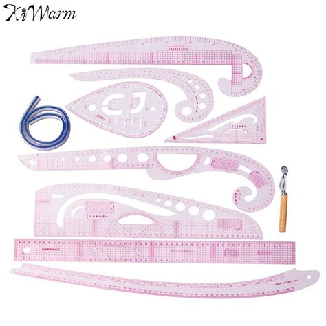 pattern making grading ruler aliexpress com buy kiwarm 9pcs plastic french curve