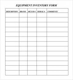 Computer Equipment Inventory Template by Sle Equipment Inventory Template 9 Free