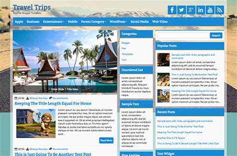 Templates Blogger Travel | travel blogger templates deluxetemplates